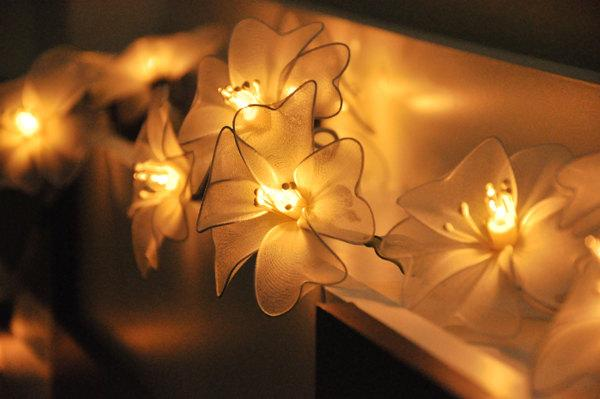 Mariage - 20 Flower String Lights White Colour for Party Wedding and Decorations