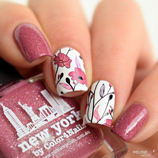 "Hochzeit - Melyne-nailart On Instagram: ""Toujours Mon Ptit Nail Art Avec New-york By @picturepolish Fait En Collaboration Avec @color4nails . J'ai Utilisé Les WD De Chez BPS . .…"""