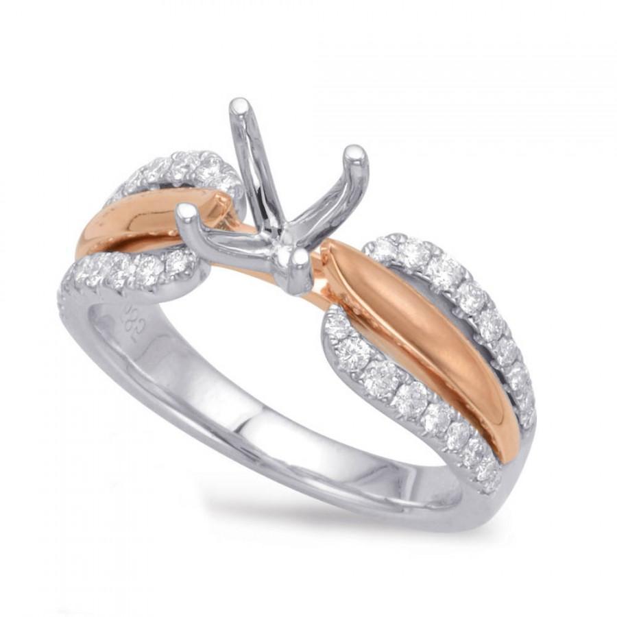 Raven Fine Jewelers - Diamond Pave Ring 14k Two Tone Gold