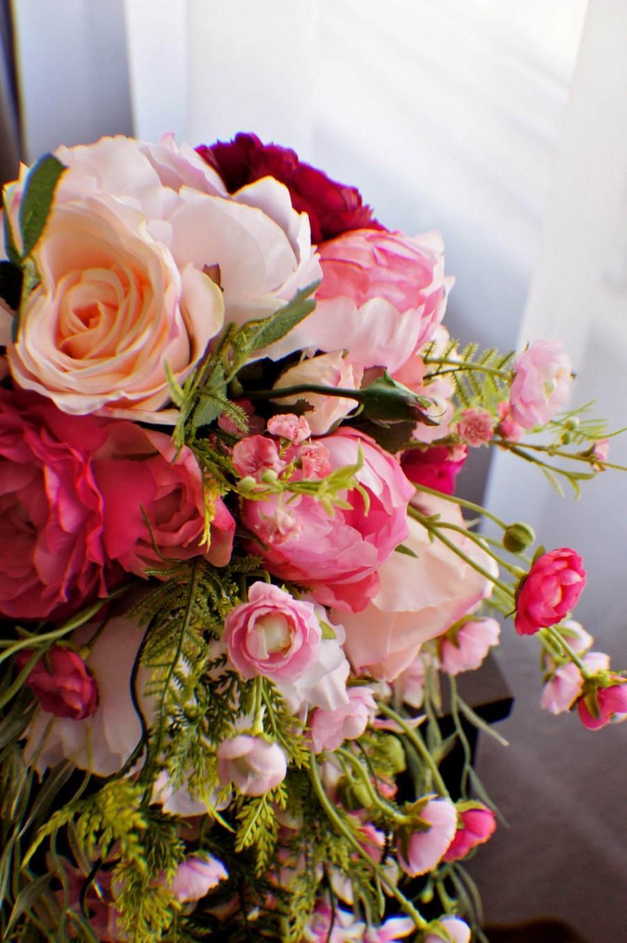 Bridal Bouquet Wedding Bouquet Cascading Bouquet Shades Of Pink