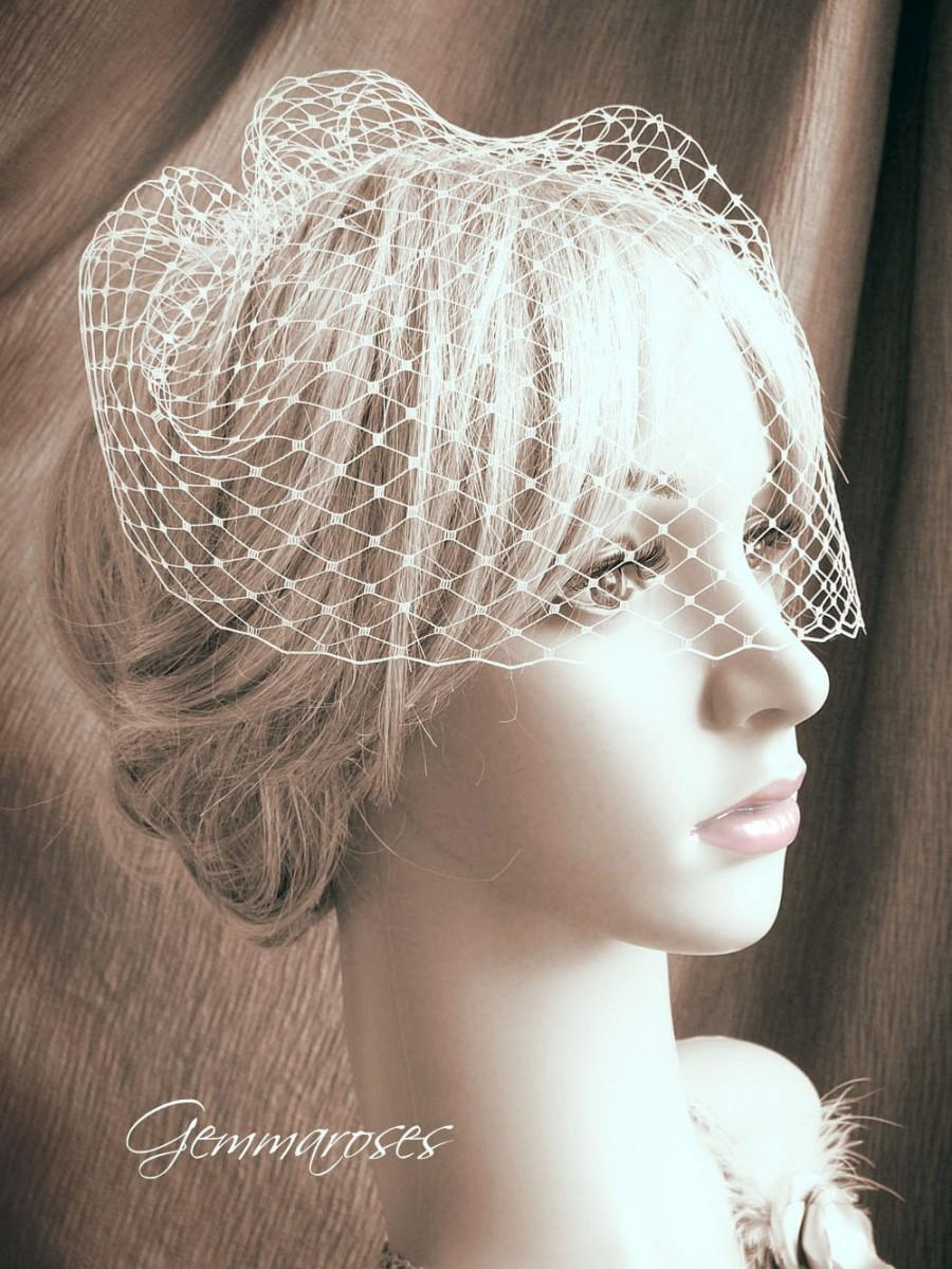 "Mariage - 9"" birdcage veil - one comb - MADE TO ORDER"