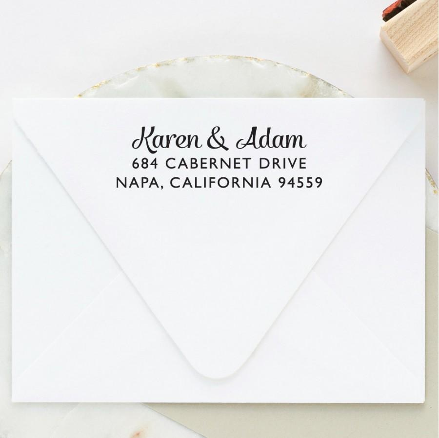 Wedding - Address Stamp, Self Inking Address Stamp, Custom Stamp, Personalized Stamp, Wedding Stamp, Return Address Stamp, Custom Address Stamp
