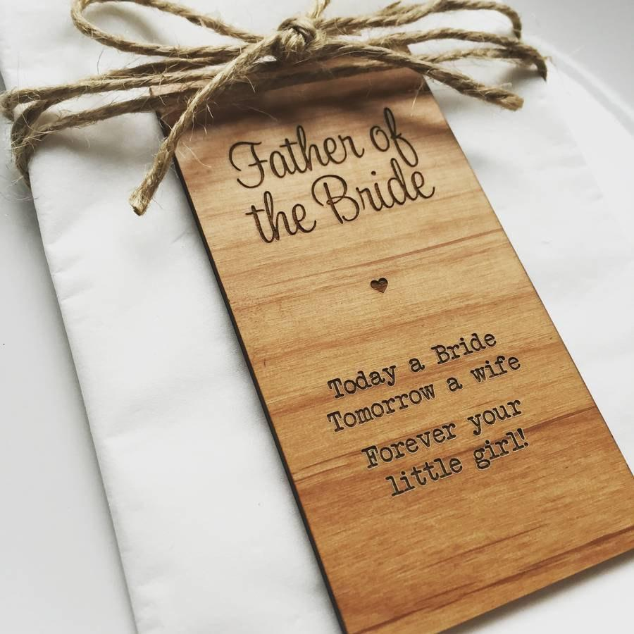 Hochzeit - Father Of The Bride Wooden Place Setting