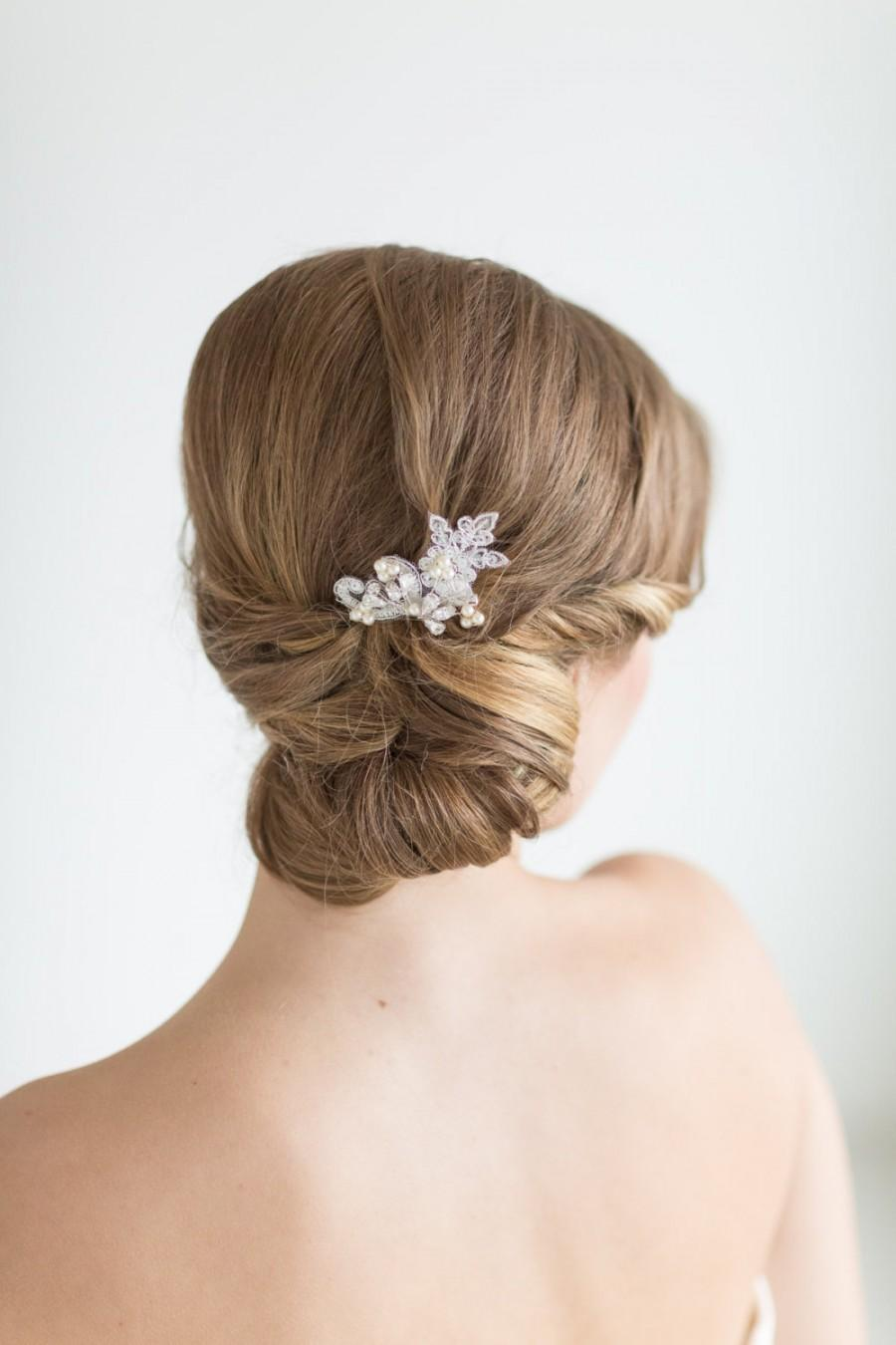 Mariage - Wedding Hair Pin, Bridal Hair Pin, Swarovski Pearl Wedding Hair Pin
