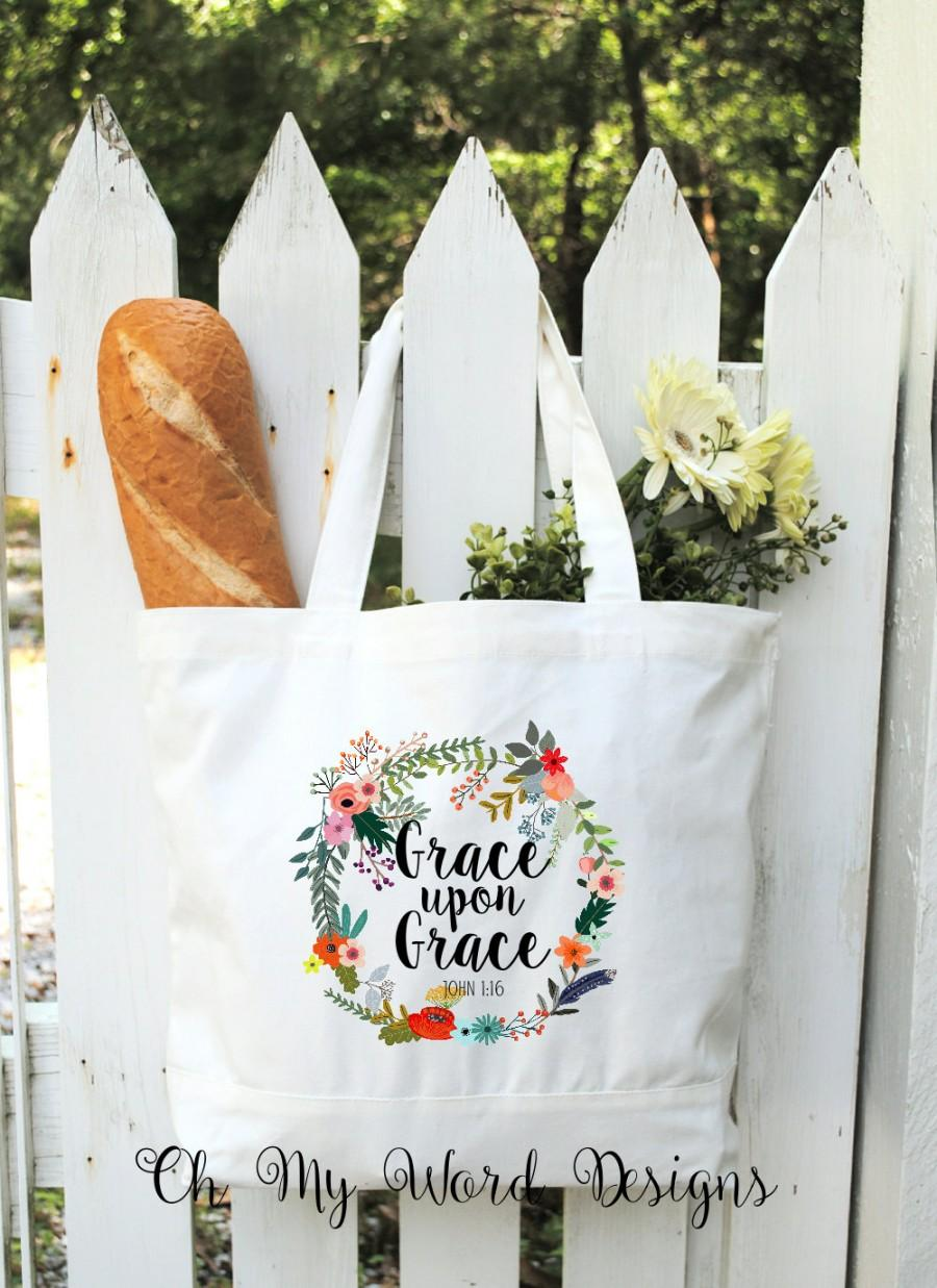 Cotton Canvas Tote Bag-Scripture Tote Bags-Monogrammed Canvas Bags ...