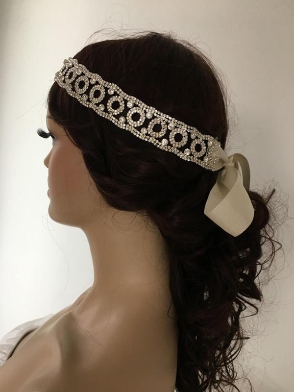 Hochzeit - EXPRESS SHIPPING Rhinestones headband, bridal headband, headpiece, wedding hairband, Rhinestone Headpiece, Bridal Hair - $52.90 USD
