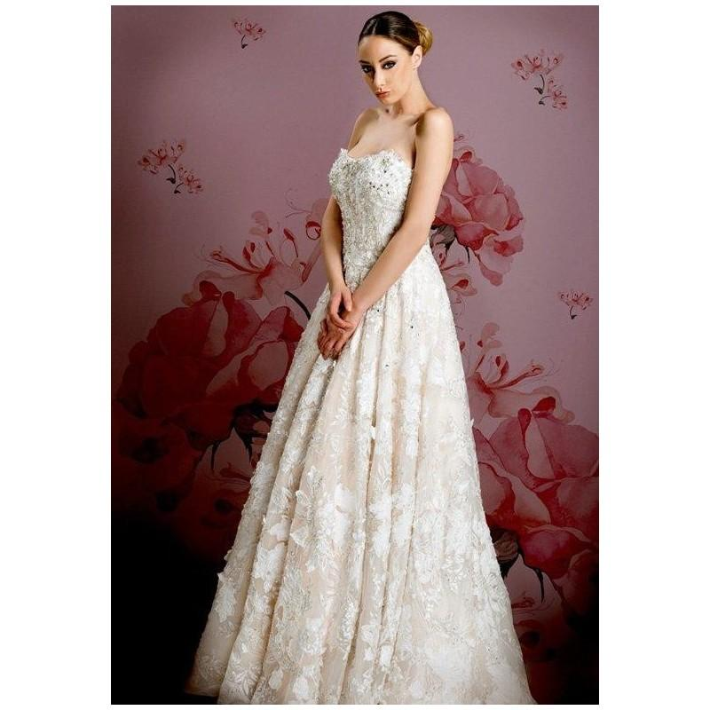 Ysa makino kym78 wedding dress the knot formal for Wedding dresses the knot