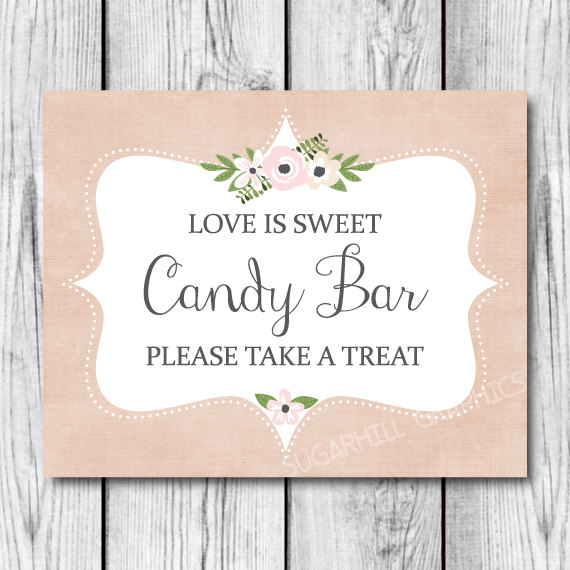 Boda - Wedding Sign, Printable Wedding Sign, Wedding Candy Bar Sign, Wedding Signage, Candy Bar Sign, Wedding Decor, Wedding Signage, Love is Sweet