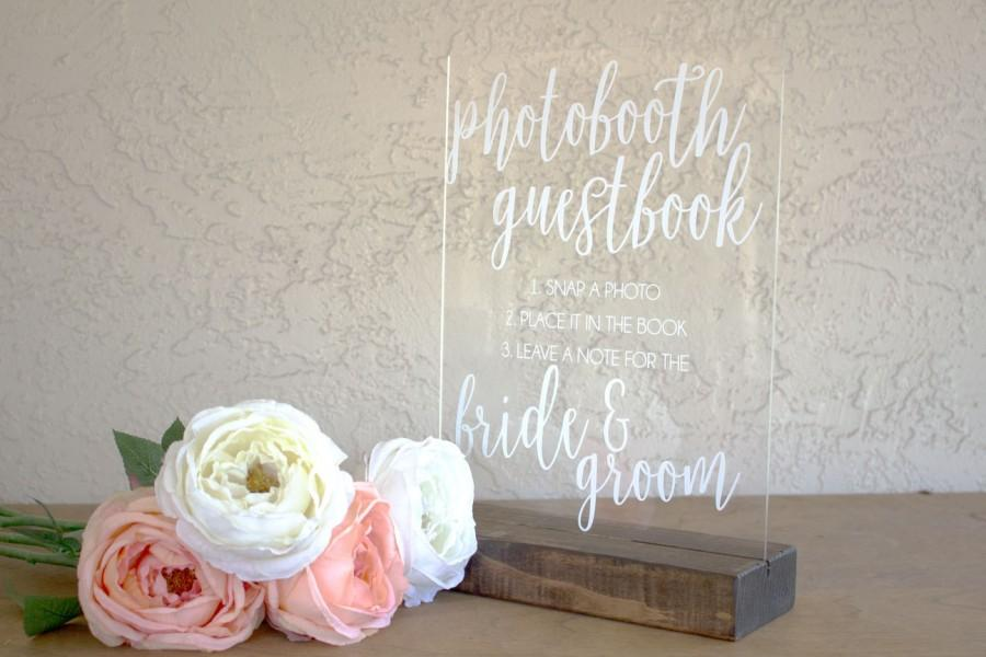 Mariage - Photo Guestbook Sign - Instant Photo Guestbook Sign - Photo booth Guest book Sign - Acrylic Guestbook Sign - Acrylic Sign - Guestbook Signs