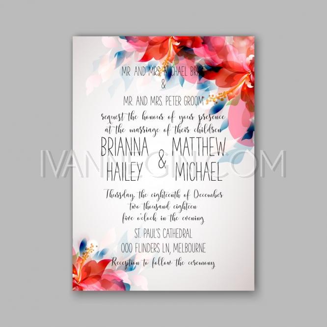Hochzeit - Romantic pink peony bouquet bride wedding invitation template design - Unique vector illustrations, christmas cards, wedding invitations, images and photos by Ivan Negin