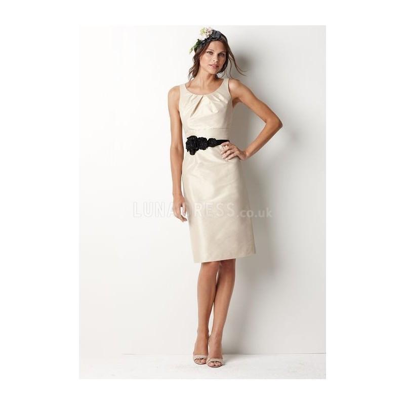 Boda - Great Taffeta Sheath/ Column Scoop Sleeveless Bridesmaid Dress - Compelling Wedding Dresses