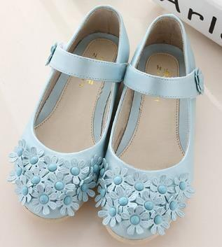 Hochzeit - Children's Leather Princess Flower Girls Wedding Shoes (FREE SHIPPING)