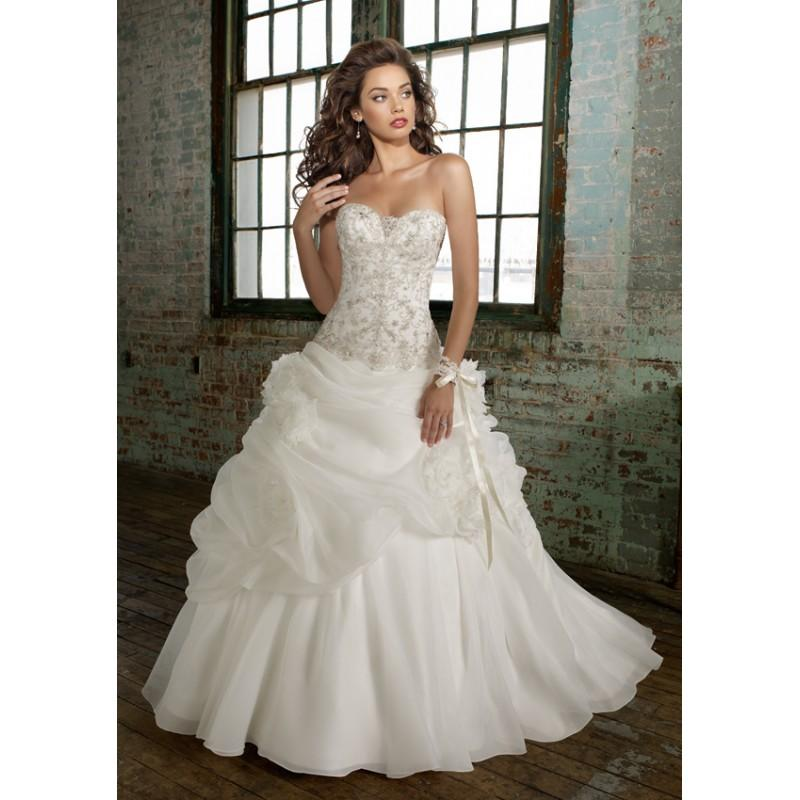 Hochzeit - Mori Lee Angelina Faccenda Bridal Dress Style 1211 - Compelling Wedding Dresses