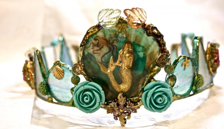 Wedding - Mermaid Crown - Magic Waters- One of a kind Piece - Faerie Queen of the Waters - Mermaiden
