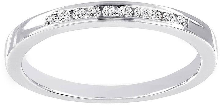 Wedding - MODERN BRIDE Lumastar 1/10 CT. T.W. Diamond Sterling Silver Wedding Band