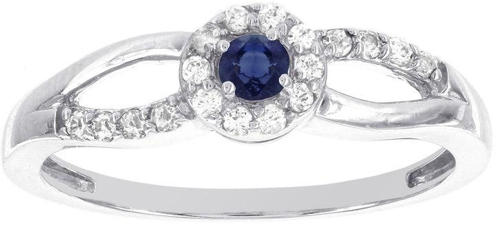Wedding - MODERN BRIDE Lumastar Genuine Sapphire and Diamond-Accent 10K White Gold Promise Ring