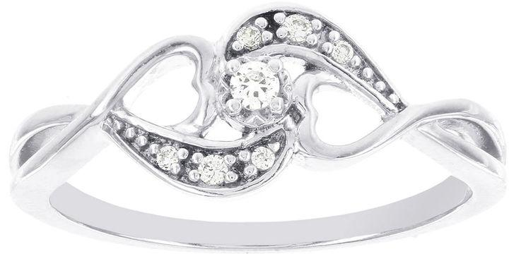 Wedding - MODERN BRIDE Lumastar Diamond-Accent Sterling Silver Promise Ring