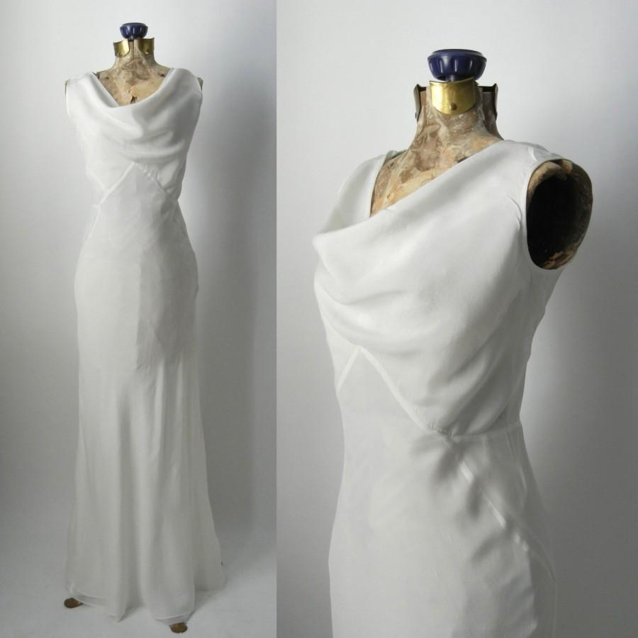 Wedding - Vintage 1930s Style Silk Art Deco Gown