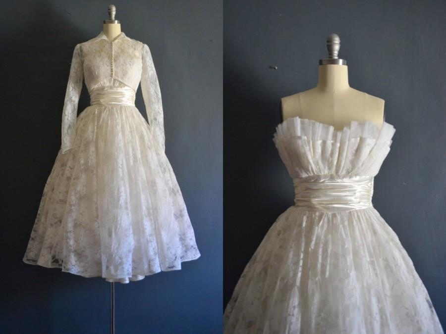 Hochzeit - Glenna / 50s wedding dress / vintage 1950s wedding dress