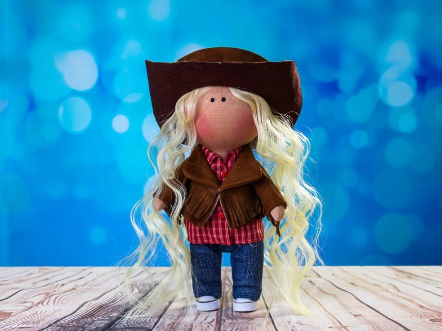 Mariage - Doll Janine. Tilda doll. Cowboy doll. American Doll. Textile doll. Сollection La Petite. Interior doll. Rag doll. Сute doll. Toy. Soft toy