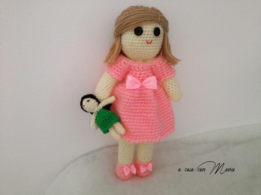 Düğün - Bambola fatta a mano uncinetto, soft doll, bambola, giochi e giocattoli, giocattolo bambolina morbida, fatta a mano, made in Italy