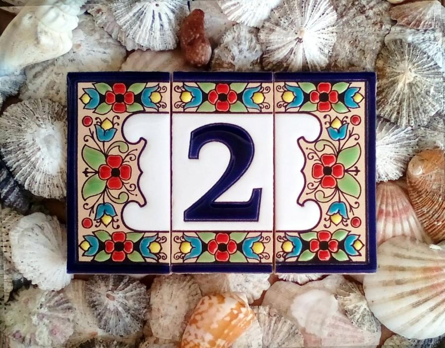 Hochzeit - Ceramic house number sign Address plaque Mail sign House number House address number Home name plate Ceramic number tile Ceramic letter tile