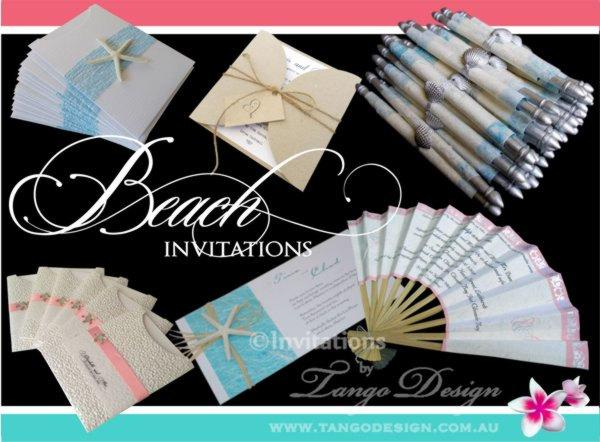 Mariage - BEACH wedding invitations. DESTINATION wedding Invites. Party by the BEACH birthday Boat tropical elegant invites Australia Uk Usa 3SAMPLES