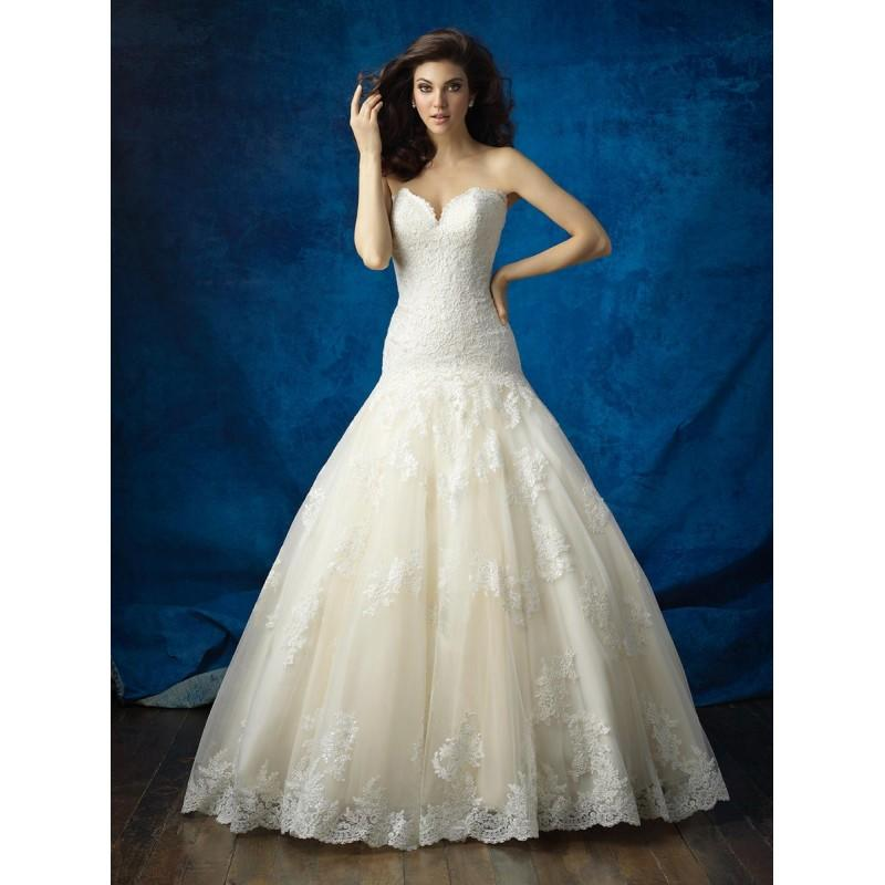 Boda - Allure Bridals 9372 White,Ivory,Gold/Ivory Dress - The Unique Prom Store