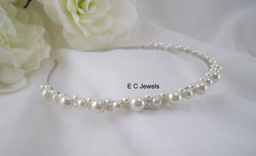 Wedding - Pearl Tiara / Headband