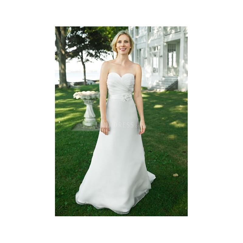 Wedding - Classic A line Sweetheart Organza Natural Waist Floor Length Wedding Dresses - Compelling Wedding Dresses