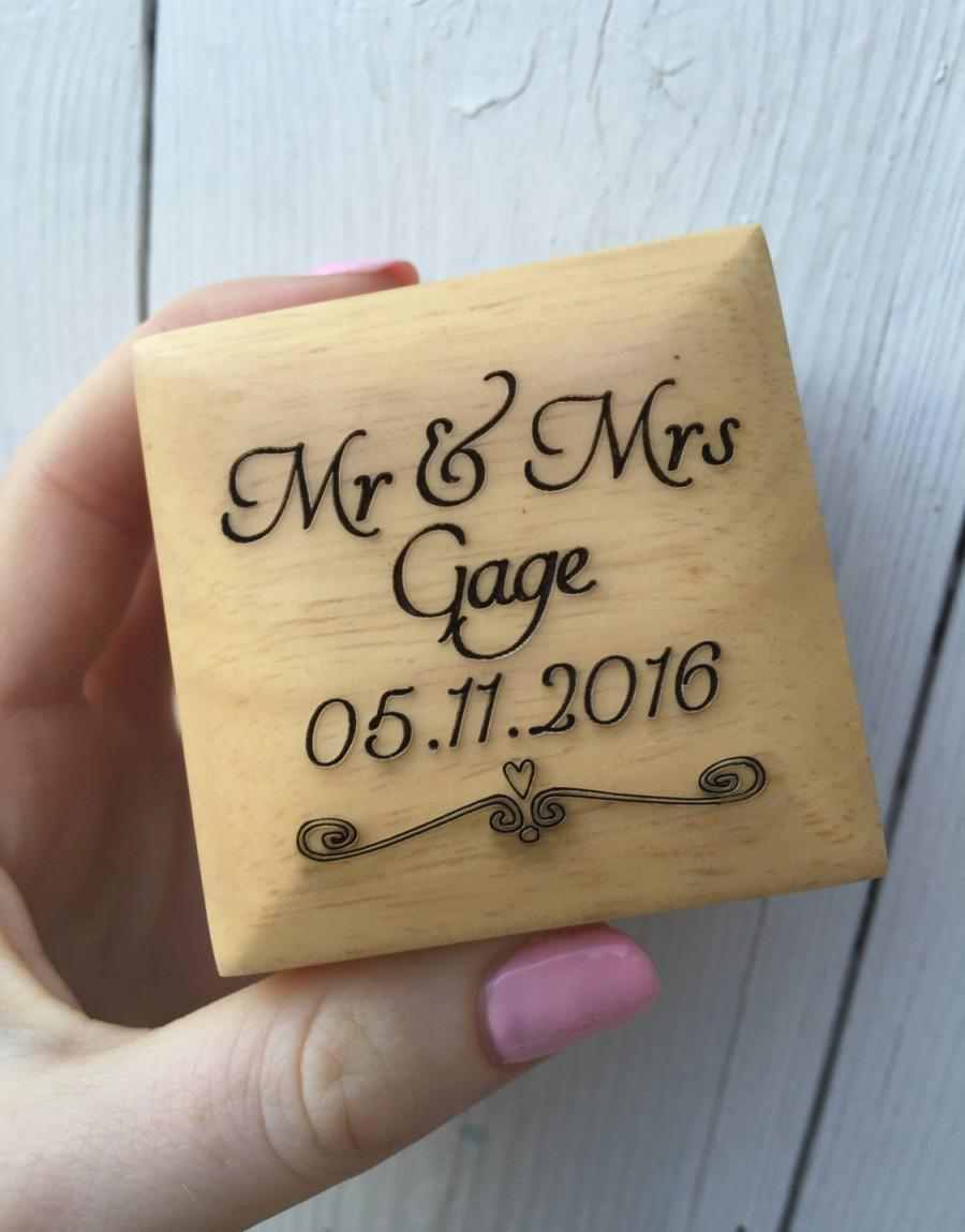 Mariage - Personalised Ring Box, Personalized Ring box, Wedding ring box, Engagement Ring Box, ring bearer