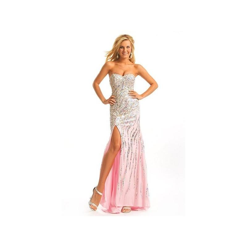 Wedding - Party Time Beaded Tulle Prom Dress 6790 - Brand Prom Dresses