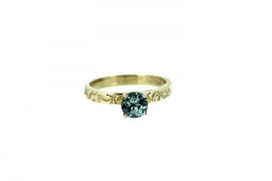 زفاف - ethical engagement ring . Montana sapphire engagement ring . unique engagement ring by peacesofindigo . ready to ship size 6