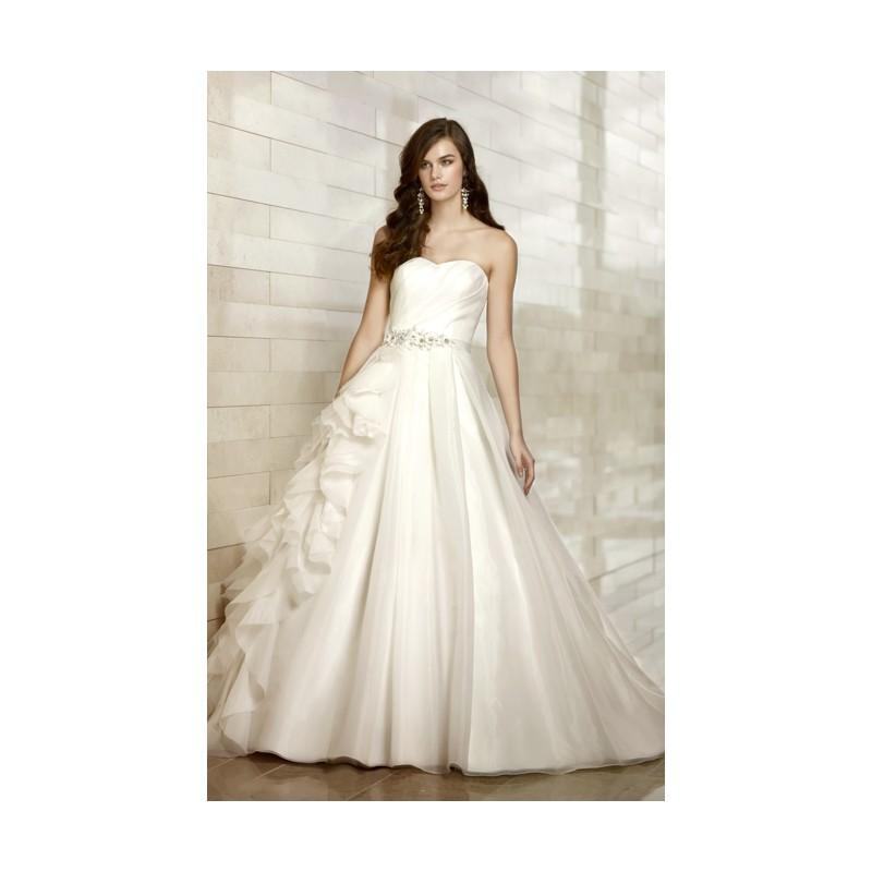 Wedding - Simple A-line Strapless Beading Ruching Sweep/Brush Train Organza Wedding Dresses - Dressesular.com