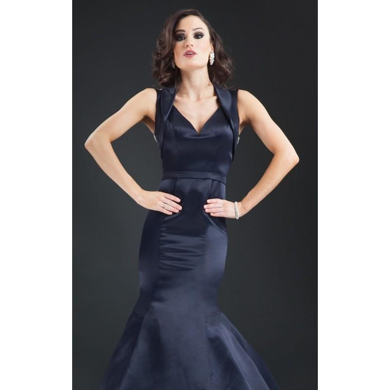 Свадьба - Navy Beaded Mermaid Gown by Rachel Allan Couture - Color Your Classy Wardrobe