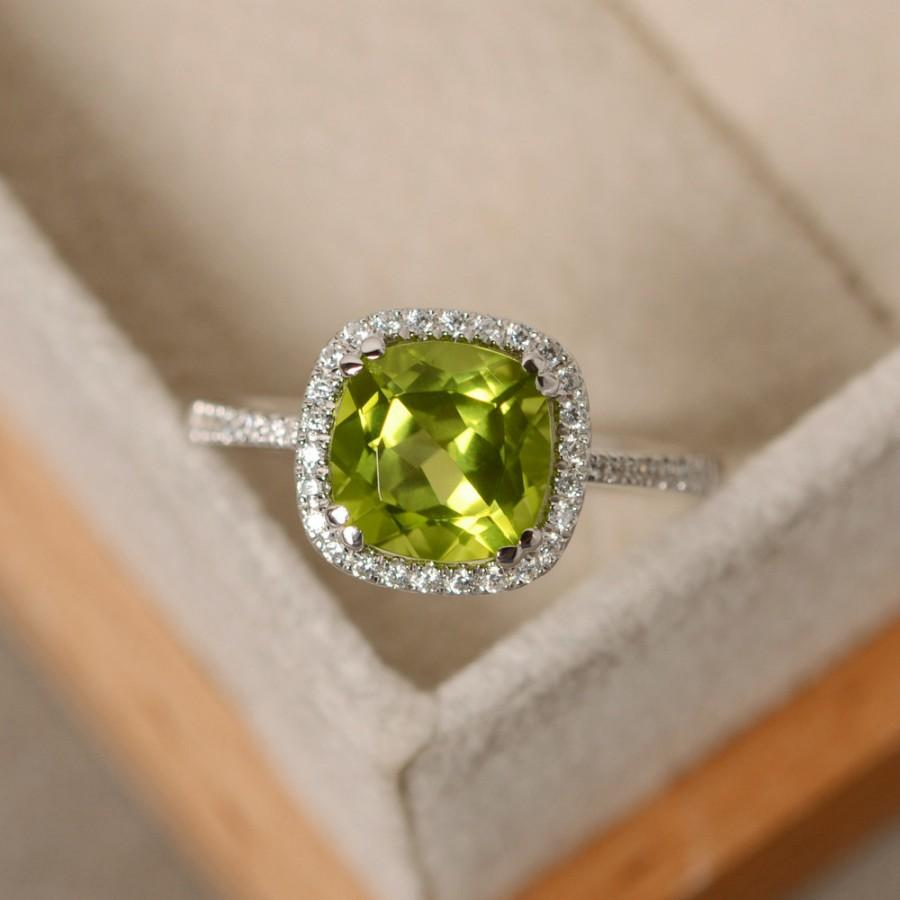 gold engagement ring natural rings oval white diamond peridot pin sizes