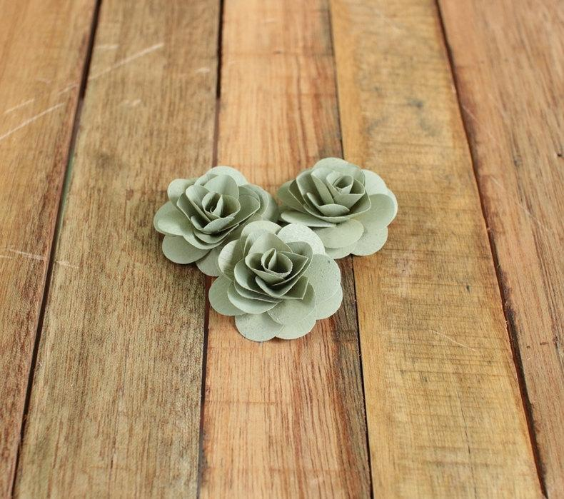 Mariage - 150 Pcs Sage Birch Wood Roses for Weddings, Home Decorations, Scrapbooking and Floral Arrangements