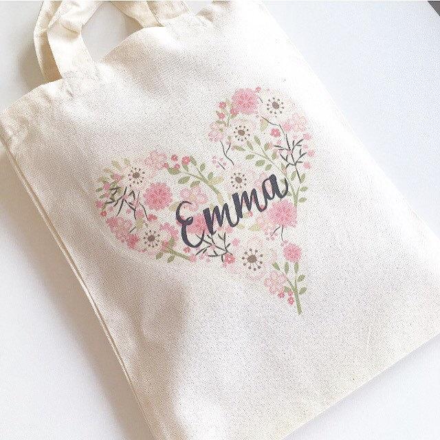 Свадьба - Flower Girl Bag, Wedding Bag, Girls Gift Bag, Personalised Party Bag, Wedding Favour Bag, Flower Girl Thank You Gift, Name Bag, Gift Bag