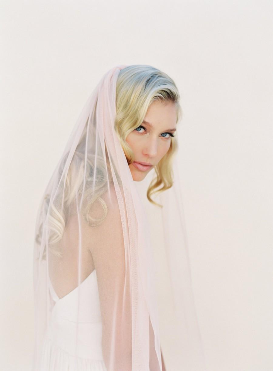 Свадьба - Single Layer Veil, Waltz Length, Bridal Veil English Net Veil, Ivory, White, Blush, Champagne, Soft Veil, Sheer Veil, Classic Veil 0801