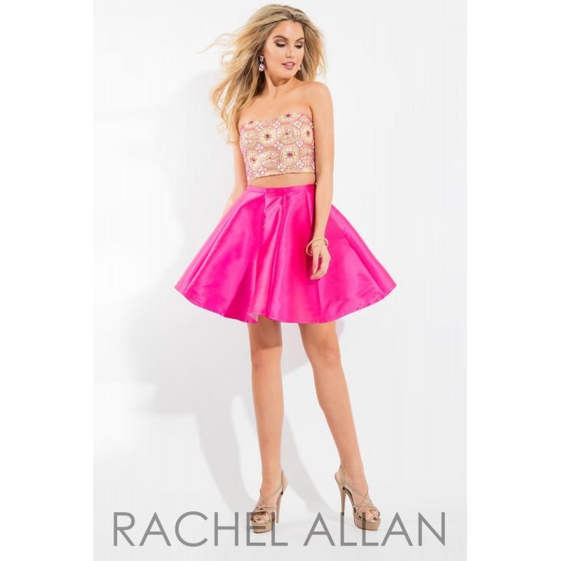 Свадьба - Gold/Fuchsia Rachel Allan Shorts 4159  Rachel ALLAN Short Prom - Elegant Evening Dresses