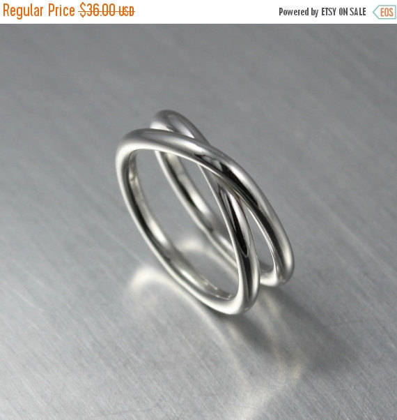 Wedding - SALE TODAY Eternity Ring, Minimalist Jewelry, Simple Infinity Ring, Sterling Silver