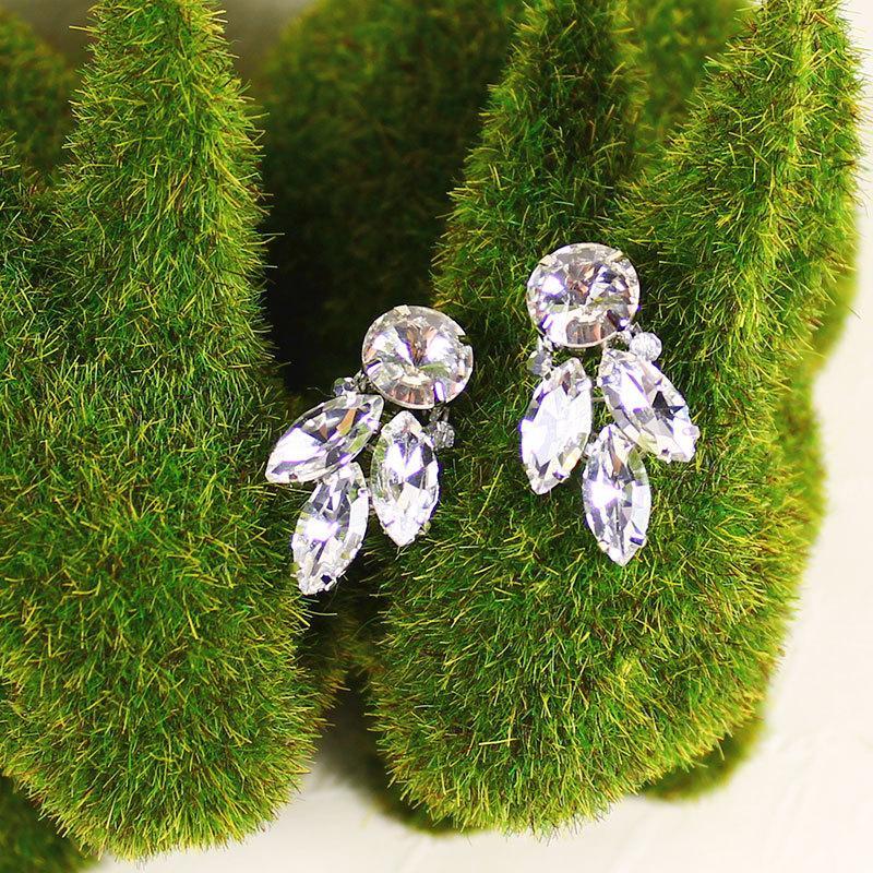 Wedding - Jolene Bridal Earrings, Bridal Leaf Earrings, Bridal Stud Earrings, Bridal Crystal Leaf Earrings, Wedding Earrings, Bridesmaid Earrings Gift