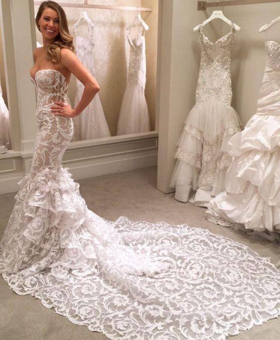 Свадьба - Wedding Dresses,lace Wedding Dresses,mermaid Wedding Dress,stunning Bridal Gown,2016 New Arrival Wedding Dress,PD190130 From Focusdress