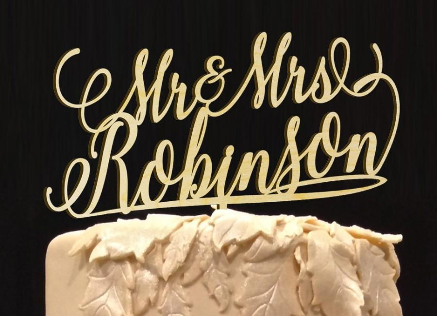 Düğün - Personalized MR&MRS Wedding Cake Topper,  Wedding Cake Decor, Anniversary - Bridal Shower - Wedding Gift, Valentine Day Cake Topper
