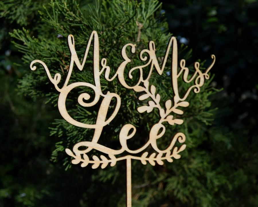 Wedding - Personalized MR&MRS Wedding Cake Topper, Wedding Cake Decor, Rose Gold wedding- Wedding Gift, Valentine Day Cake Topper