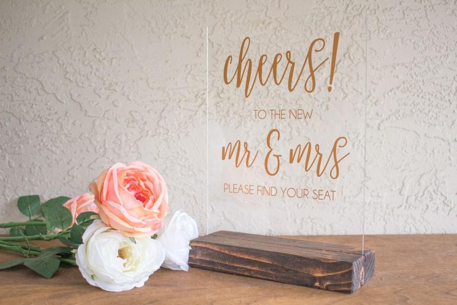 Boda - Wedding Escort Card Sign - Cheers Wedding Sign - Escort Card Sign - Please Find Your Seat Sign - Shot Glass Wedding Sign - Champagne Escort