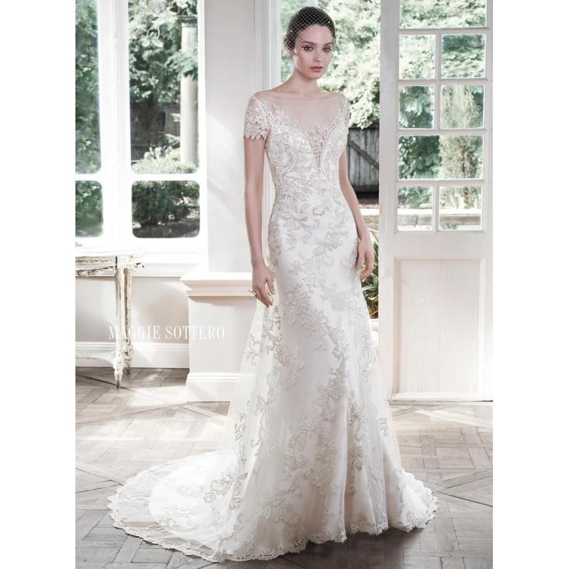 Wedding - White/Silver Accent Maggie Bridal by Maggie Sottero 5MR605 - Brand Wedding Store Online