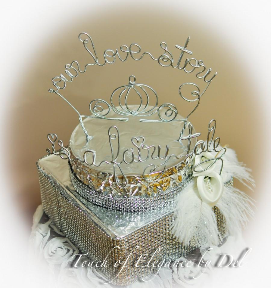 Mariage - Fairy-tale Inspired Wedding Cake Topper - Fairy-tale Wedding - Pumpkin Cake Topper - Carriage Cake Topper - Original Design Cake Topper