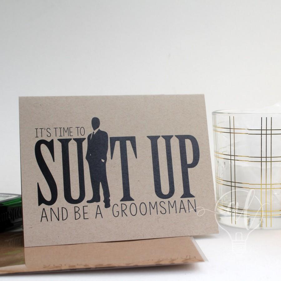 زفاف - Suit up and be my groomsman - Will you be my groomsman - be my groomsman - groomsman card - groomsman proposal - groomsman invitiation