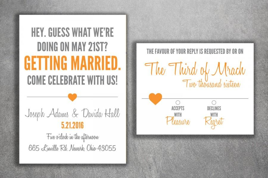 Cheap Customized Wedding Invitations: Affordable Wedding Invitation Set Printed